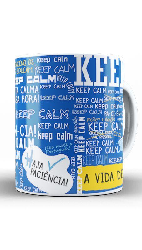 Caneca Keep Calm - Nerd e Geek - Presentes Criativos