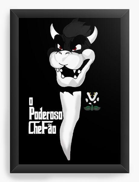 Quadro Decorativo A4 (33X24) Poderoso Chefão - Nerd e Geek - Presentes Criativos