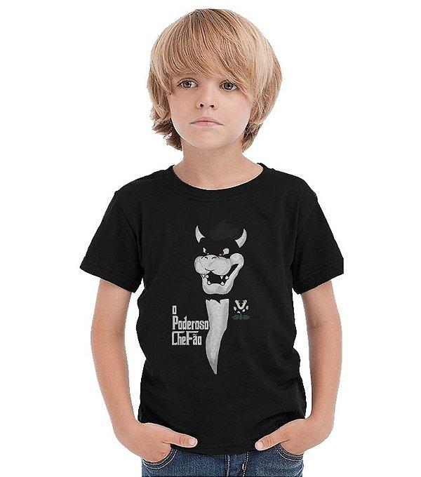 Camiseta Infantil Poderoso Chefão   - Nerd e Geek - Presentes Criativos