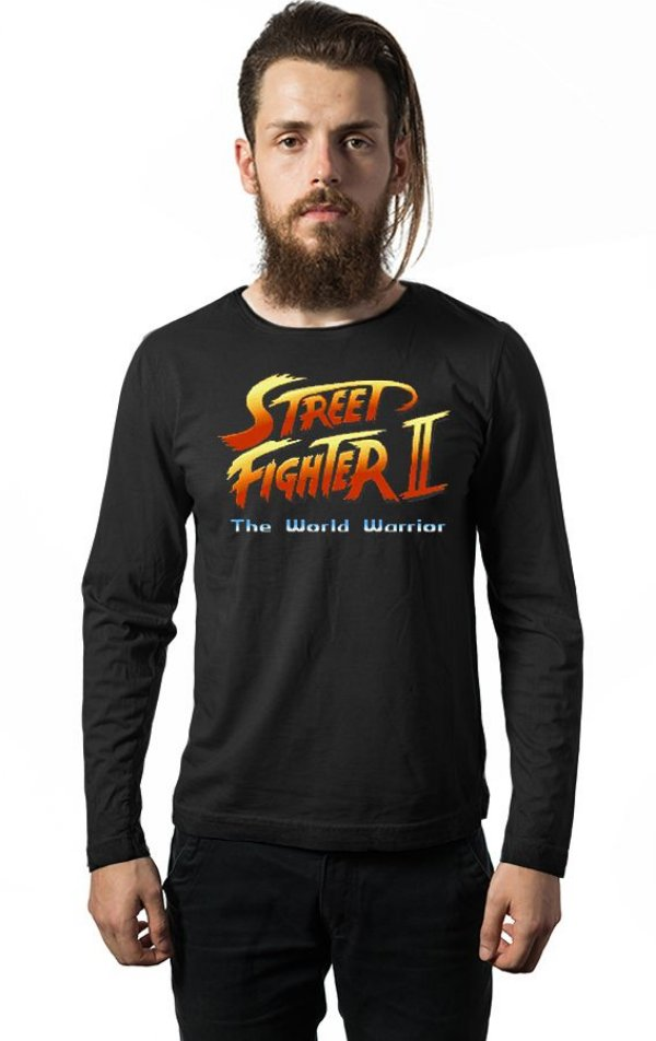 Camiseta Manga Longa Street Fighter