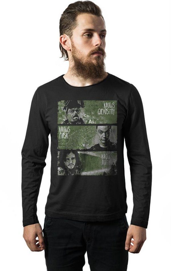 Camiseta Masculina  Manga Longa Breaking Bad, Jon - Nerd e Geek - Presentes Criativos
