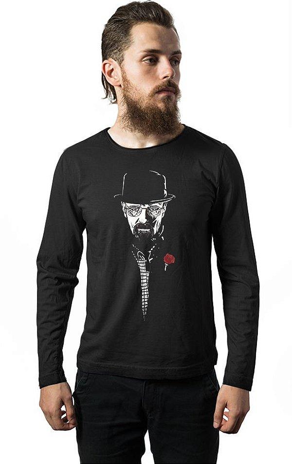 1fb2850fd Camiseta Masculina Manga Longa Breaking Bad - Heisenberg - Nerd e Geek -  Presentes Criativos