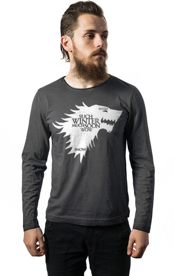 Camiseta Masculina  Manga Longa Game of Thrones - Nerd e Geek - Presentes Criativos