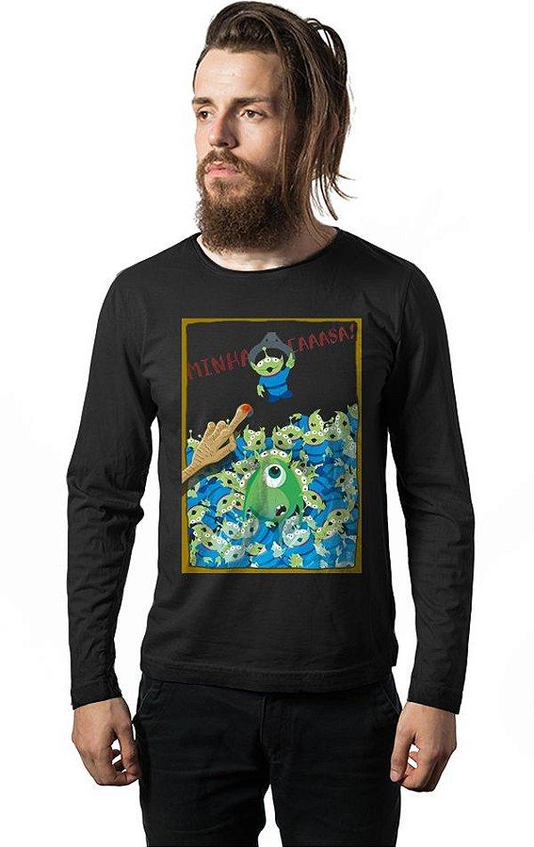 Camiseta Manga Longa Monstros SA