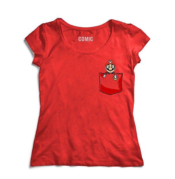 Camiseta Feminina Super Mario Bolso