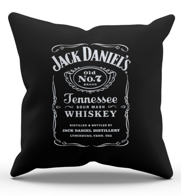 Almofada Decorativa  Jack Daniels 45x45 - Nerd e Geek - Presentes Criativos
