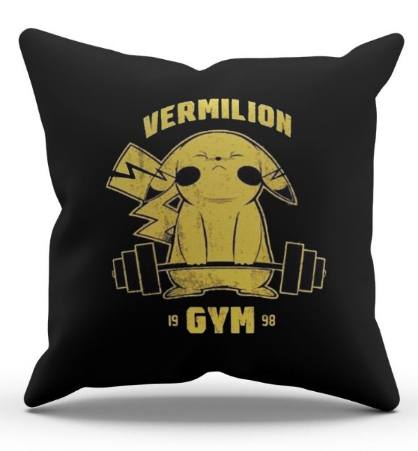 Almofada Decorativa  Pikachu Vermilion 45x45 - Nerd e Geek - Presentes Criativos