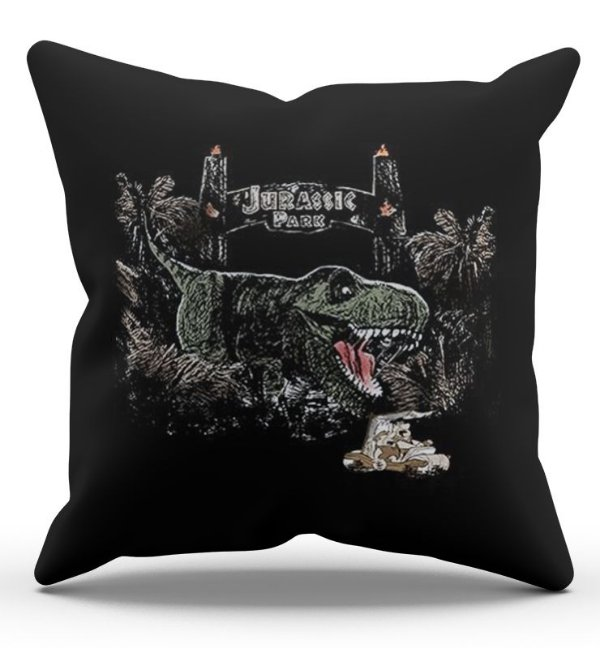 Almofada Decorativa  Jurassic Park 45x45 - Nerd e Geek - Presentes Criativos