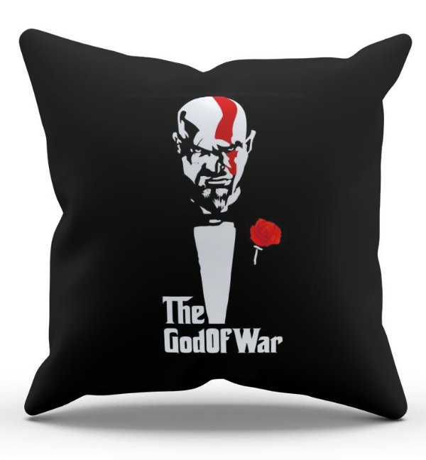 Almofada Decorativa  The Gold of War 45x45 - Nerd e Geek - Presentes Criativos