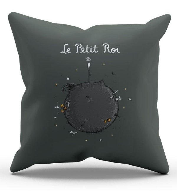 Almofada Decorativa  Le Petit Roi 45x45 - Nerd e Geek - Presentes Criativos