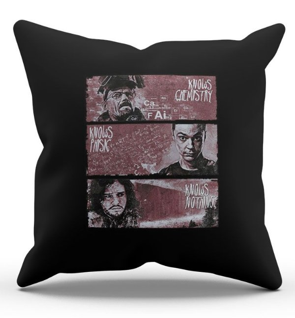 Almofada Decorativa  Jon Snow 45x45 - Nerd e Geek - Presentes Criativos