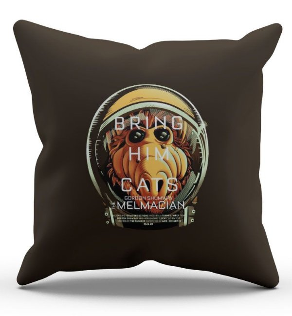 Almofada Decorativa  Alf Bring Him Cats 45x45 - Nerd e Geek - Presentes Criativos
