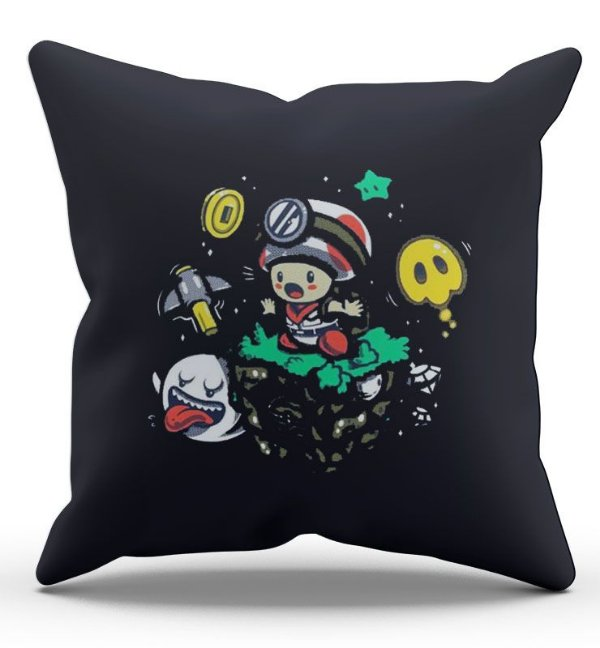 Almofada Decorativa  Toad 45x45 - Nerd e Geek - Presentes Criativos