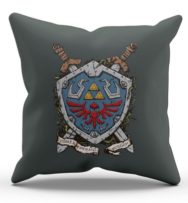 Almofada Decorativa  Zelda Escudo 45x45 - Nerd e Geek - Presentes Criativos