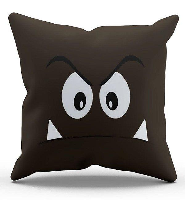 Almofada Decorativa  Goomba 45x45 - Nerd e Geek - Presentes Criativos