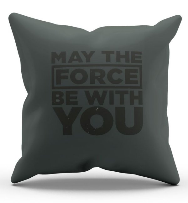 Almofada Decorativa  May The Force be with You 45x45 - Nerd e Geek - Presentes Criativos