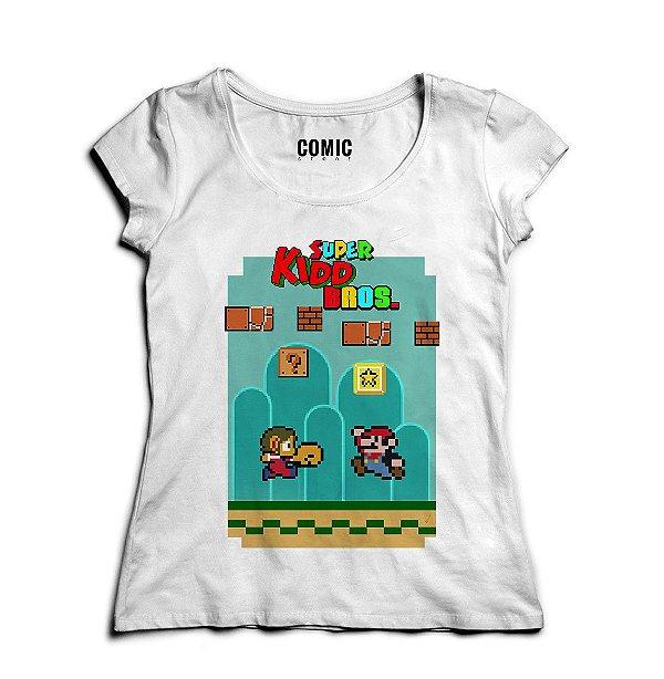 Camiseta Feminina Super Kidd Bros - Nerd e Geek - Presentes Criativos