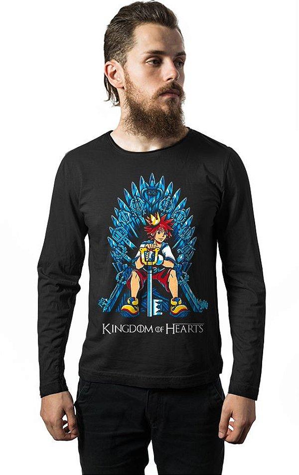 Camiseta Manga Longa Kingdom of Hearts