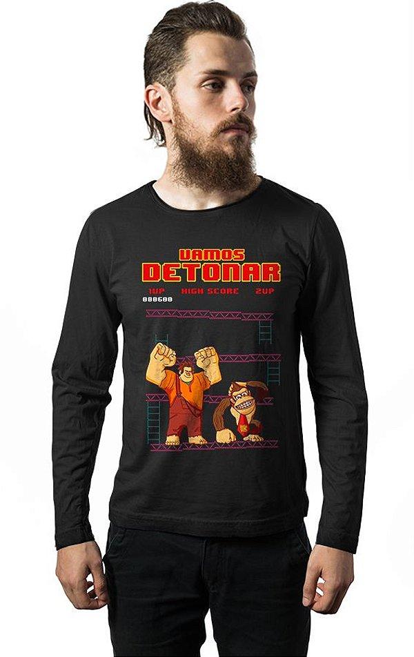 Camiseta Manga Longa Vamos Detonar DK