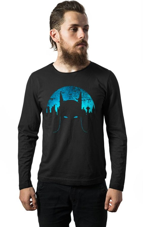 Camiseta Manga Longa Batman Dark