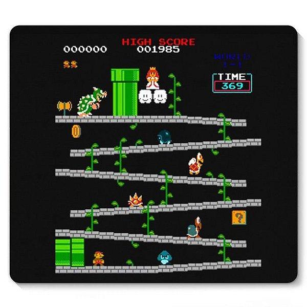 Mouse Pad Fase Super Mario - Nerd e Geek - Presentes Criativos