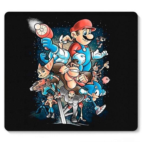 Mouse Pad Super Mario e sua Turma - Nerd e Geek - Presentes Criativos