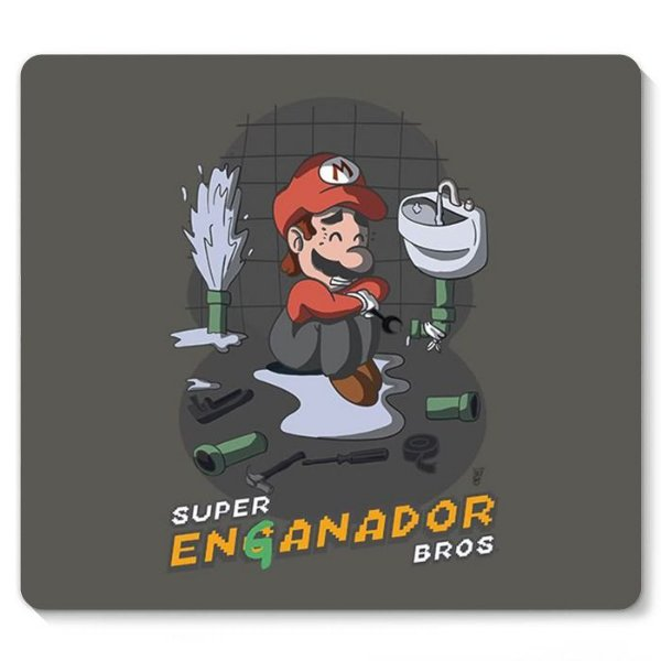 Mouse Pad Mario Bros - Nerd e Geek - Presentes Criativos