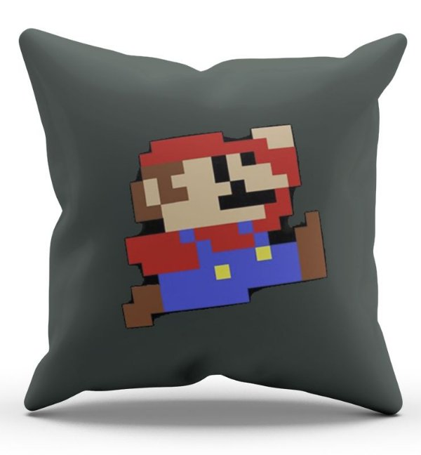 Almofada Decorativa  Super Mario 45x45 - Nerd e Geek - Presentes Criativos