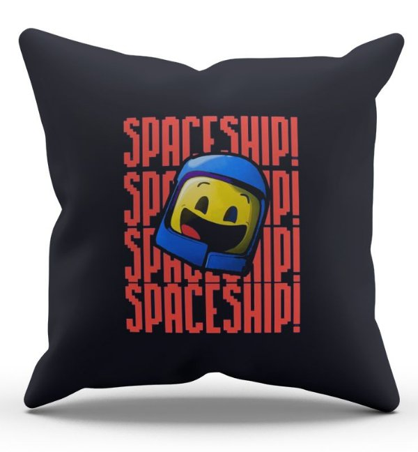 Almofada Decorativa  Spaceship 45x45 - Nerd e Geek - Presentes Criativos