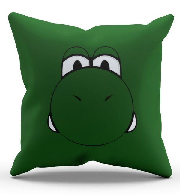 Almofada Decorativa  Yoshi 45x45 - Nerd e Geek - Presentes Criativos