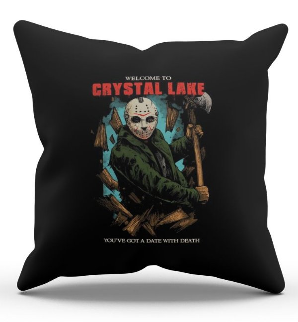 Almofada Decorativa  Jason 45x45 - Nerd e Geek - Presentes Criativos