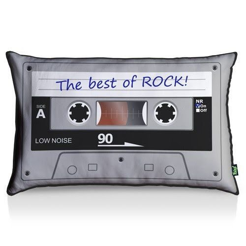 Almofada Decorativa  Mario The best of Rock 35 x 55 cm - Nerd e Geek - Presentes Criativos