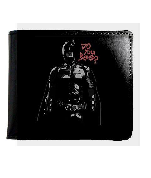 Carteira Batman - Do you Bleed ? - Nerd e Geek - Presentes Criativos