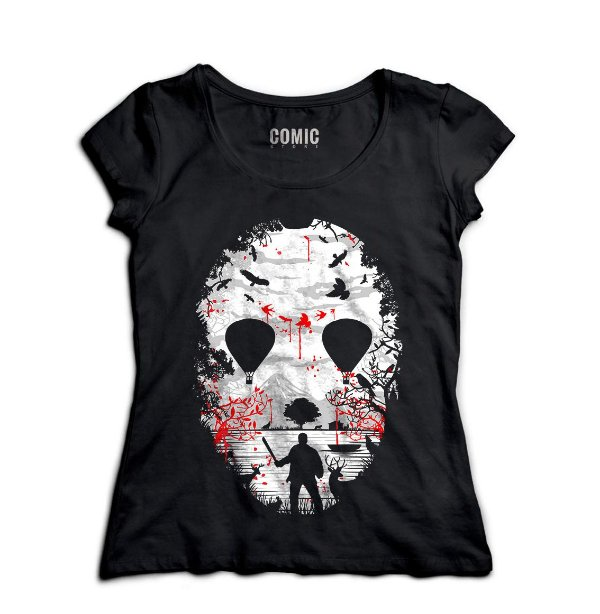 Camiseta Feminina Jason - Nerd e Geek - Presentes Criativos