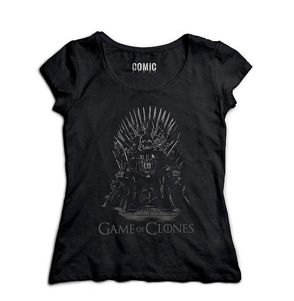 Camiseta Feminina Game of Clones
