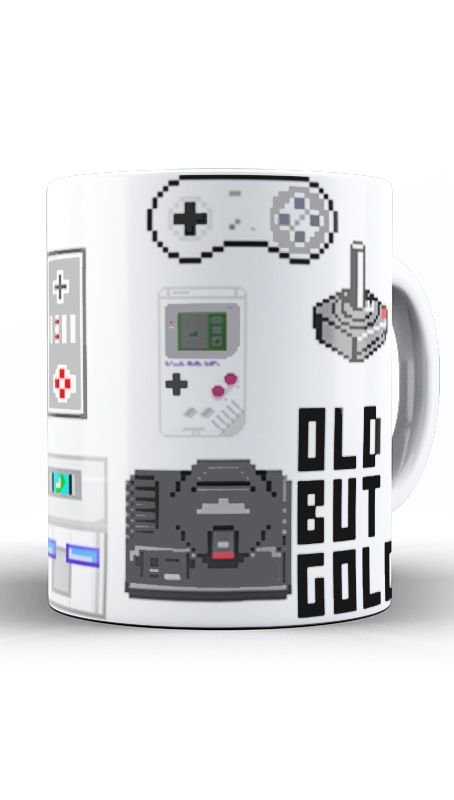 Caneca Old But Gold - Nerd e Geek - Presentes Criativos