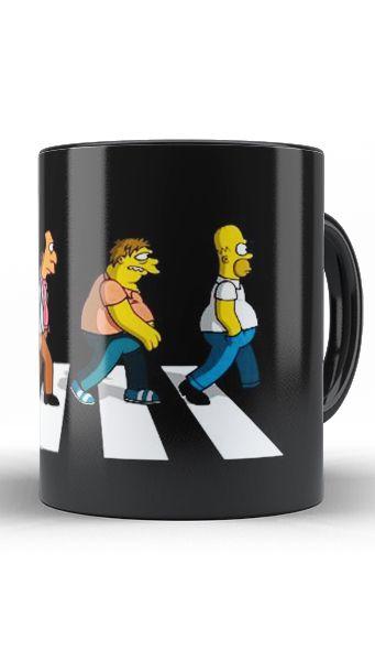 Caneca Simpsons Beatles - Nerd e Geek - Presentes Criativos