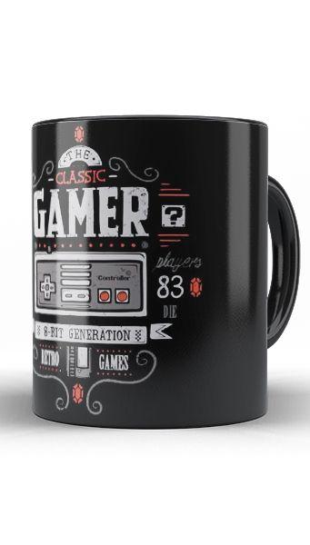 Caneca Nintendo - Classic Gamer - Nerd e Geek - Presentes Criativos