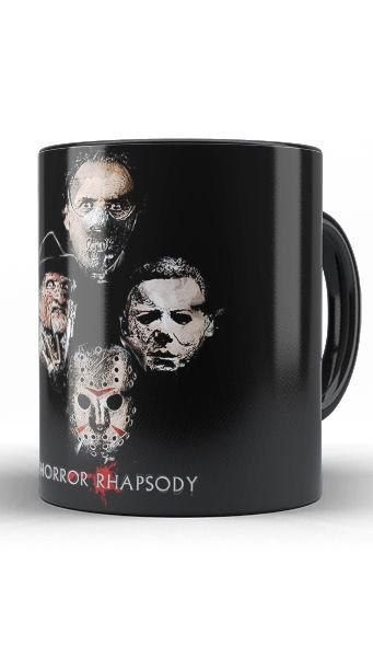 Caneca Killers - Horror Rhapsody - Nerd e Geek - Presentes Criativos