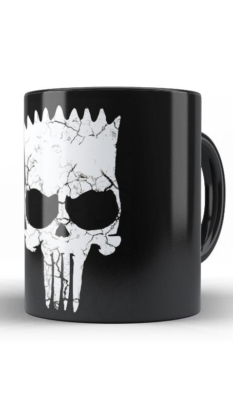 Caneca Simpson Punisher - Nerd e Geek - Presentes Criativos