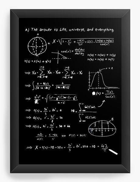 Quadro Decorativo A4 (33X24) Formula Universe - Nerd e Geek - Presentes Criativos