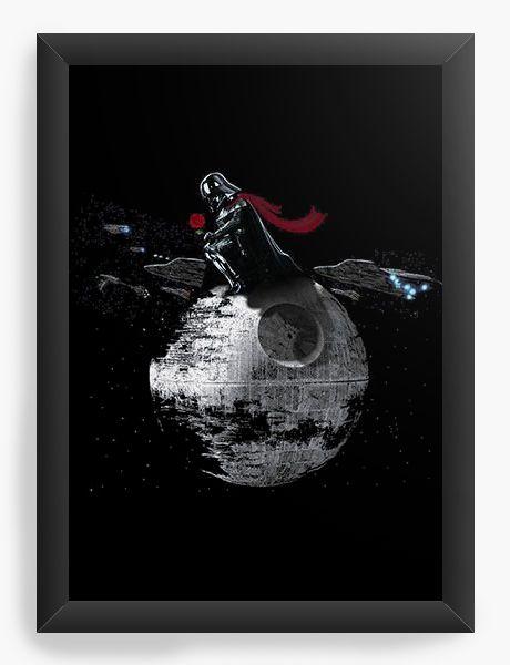 Quadro Decorativo Darth Vader Rose