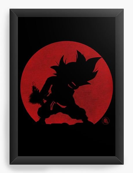 Quadro Decorativo A4 (33X24) Dragon Ball Goku - Nerd e Geek - Presentes Criativos