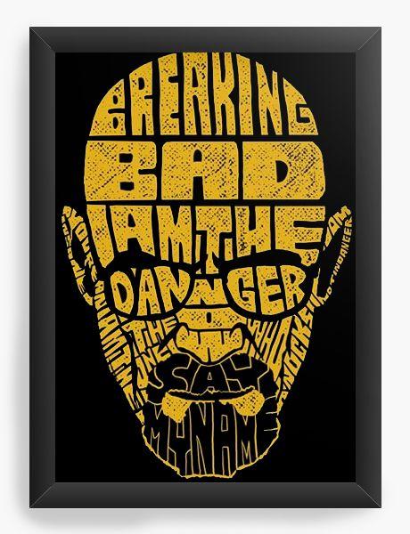 Quadro Decorativo A4 (33X24) Breaking Bad - Nerd e Geek - Presentes Criativos