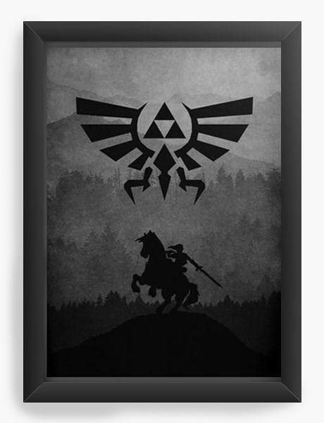 Quadro Decorativo A4 (33X24) Legend of Zelda - Nerd e Geek - Presentes Criativos