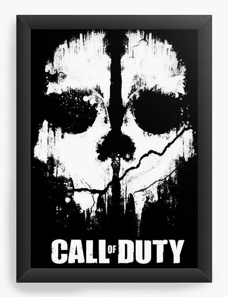 Quadro Decorativo Call of Duty - Nerd e Geek - Presentes Criativos