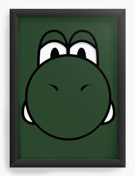 Quadro Decorativo A4 (33X24) Yoshi - Game - Nerd e Geek - Presentes Criativos