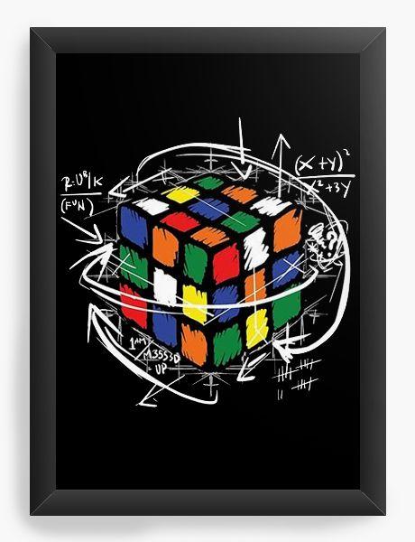 Quadro Decorativo A4 (33X24) Cubo Magico - Nerd e Geek - Presentes Criativos