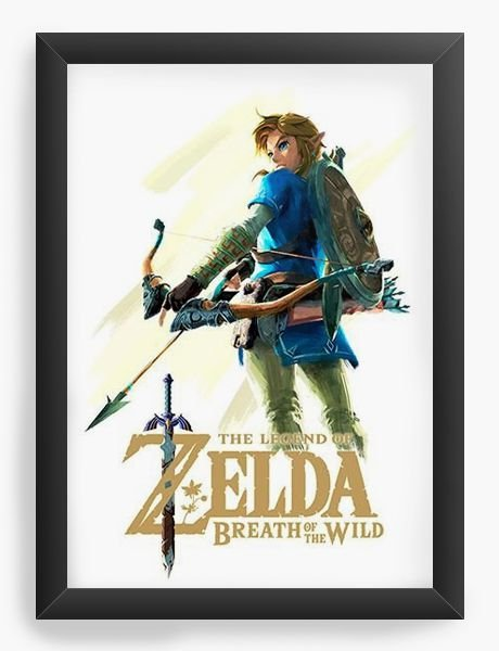 Quadro Decorativo Zelda - Nerd e Geek - Presentes Criativos