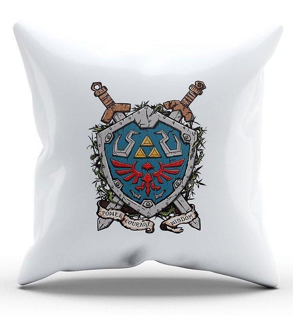 Almofada Decorativa  Escudo Link - Nerd e Geek - Presentes Criativos